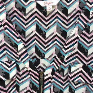 Pink, mint, grey, geometric pattern, silver detail
